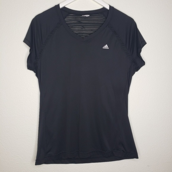 adidas Tops - Adidas Black Short Sleeve Climacool Workout Top